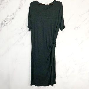 GAP || midi tie waist sweater dress short sleeve